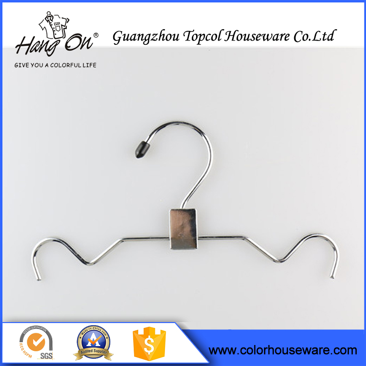 Popular Chrome Metal Clothes Dress Wire Hanger For Laundry