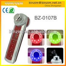 hotting seller face massge 4 in 1 multifunction Photon-Ultrasonic-Ionic-Vibrate skin care product BZ-0107B