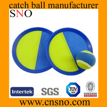 Sticky catch ball pink and green Nylon part toss catch ball