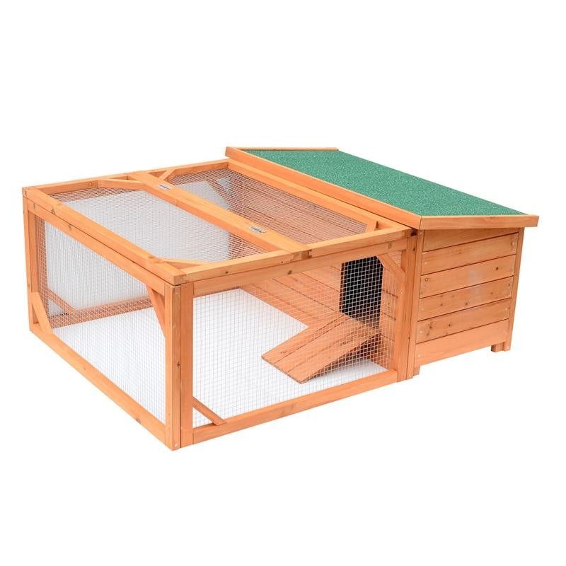 Small Wooden Bunny Rabbit & Guinea Pig / Chicken Coop w/ Outdoor Run