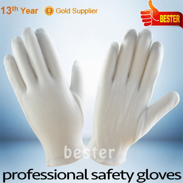 High Performance Jewellery Cotton White Inspection Polyester Glove With Great Low Price