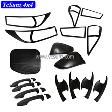 ABS Car Complete Full Set Kits Matte Black Accessories For Innova 2016 2017 Taillight Cover Accessory
