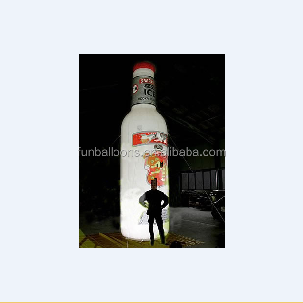 China Supplier giant inflatable beer bottle, inflatable beer bottle,promotional toys,EN71 approved P4010