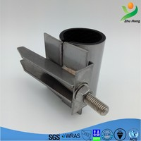 SS-H hot water pipe straight small metal clamps/compression clamp,forunderground water supply small diameter pipeline
