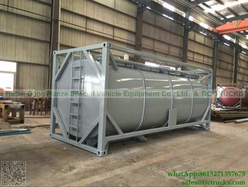 Portable iso Tank Container steel lined PE plastic lining 20000L-22000L Acid HCL, NaOH ,NaCIO ISO tank To Veinam