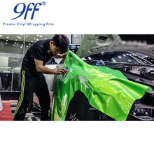 9ff brand glossy green to gold car vinyl wrap with air bubble free shine metallic car film sticker