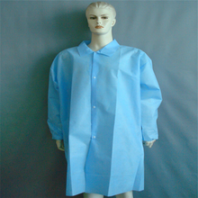 Acid Resistant Disposable Lab Coats Coat With PE Film