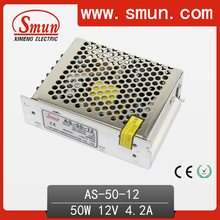 Small Size Single Output AC/DC Power Supply 50W 12V AS-50-12