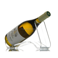 Modern Clear Acrylic champagne Wine Bottle Display Rack Holder