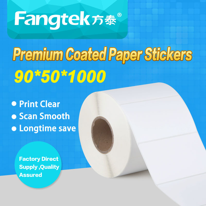 Paper roll self-adhesive sticker 90*50*1000 thermal self adhesive <strong>label</strong>