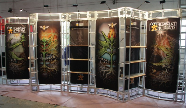 300x300mm arched light weight aluminum display truss for exhibition & fair