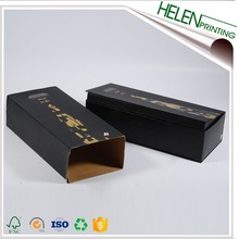 Custom magneticcardboard gift small black box with sleeve