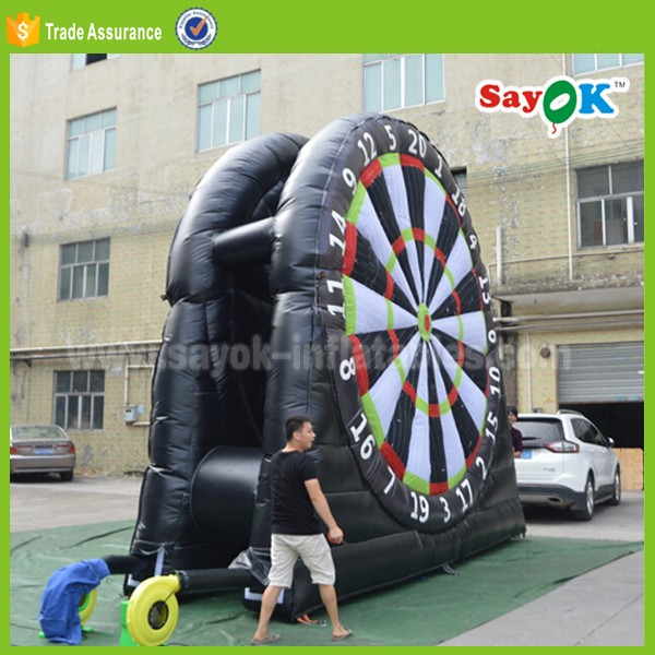 supply foot darts game air blow inflatable dart board stands rental