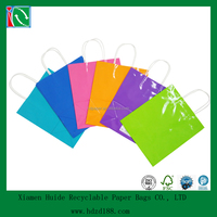 2016 art paper laminated gift bag