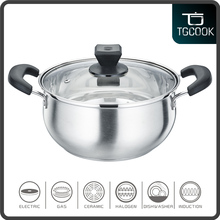 Stainless steel belly stock sealed hot pot and cookware for insulated