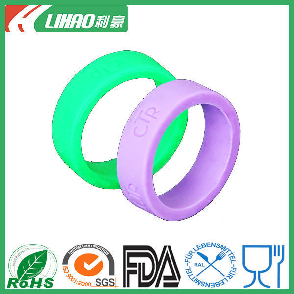 Customized Silver Silicone Bracelet