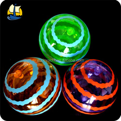 100mm TPU air bouncing balls with flashing light