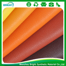 bright color synthetic leather fabric material Litchi pattern shoe upper leather