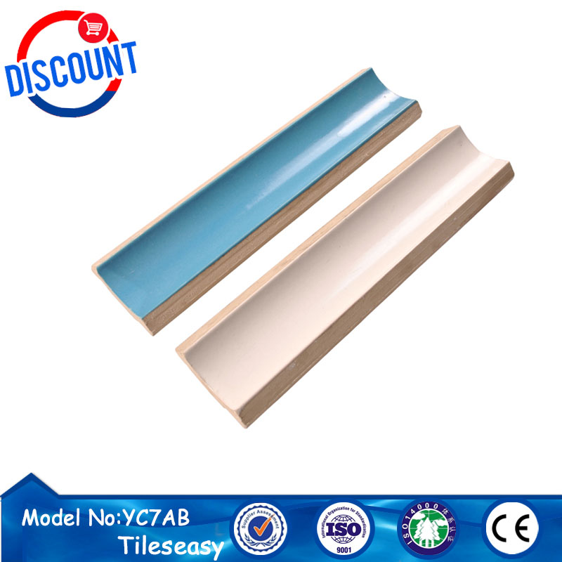 ceramic glazed swimming pool tile finishing trim YC7A for pool