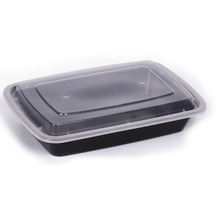 Disposable plastic take away delivery fast food box