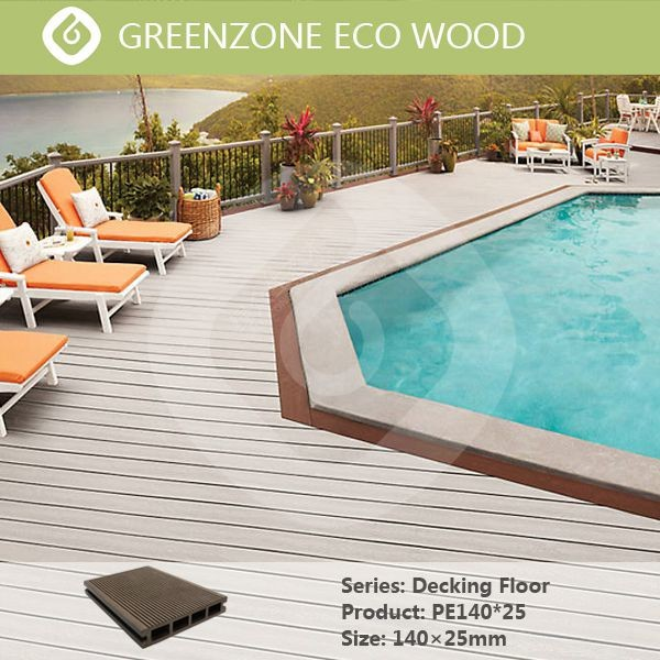 Anti slip wpc outdoor swimming pool flooring wood plastic for Swimming pool flooring materials