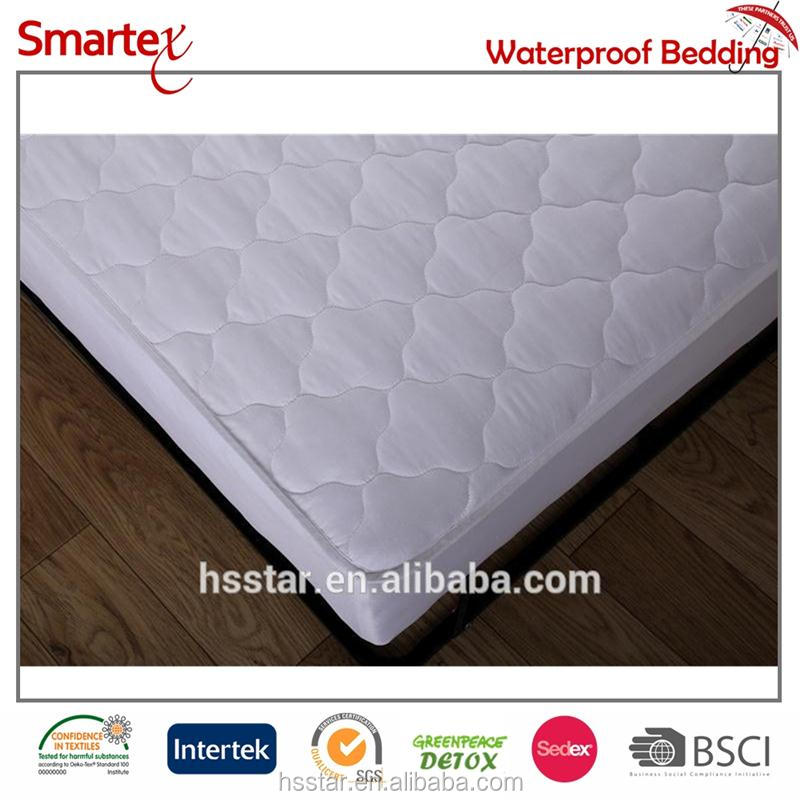 Hypoallergenic Bed Bug Microfiber Velvet Quilted Mattress Protector Cover Waterproof Two Sides Usable
