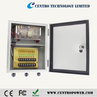 CCTV power supply box with UL Listed 12v 5a outdoor waterproof Advance switching power supply for CCTV