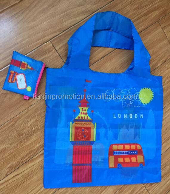 fashion custom printing folding shopping bag