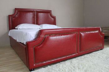 Fully Upholstery Square Stitched Tuft Saddle Bed, Queen