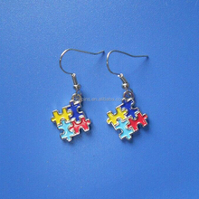 sterling silver autism awareness jewelry earrings