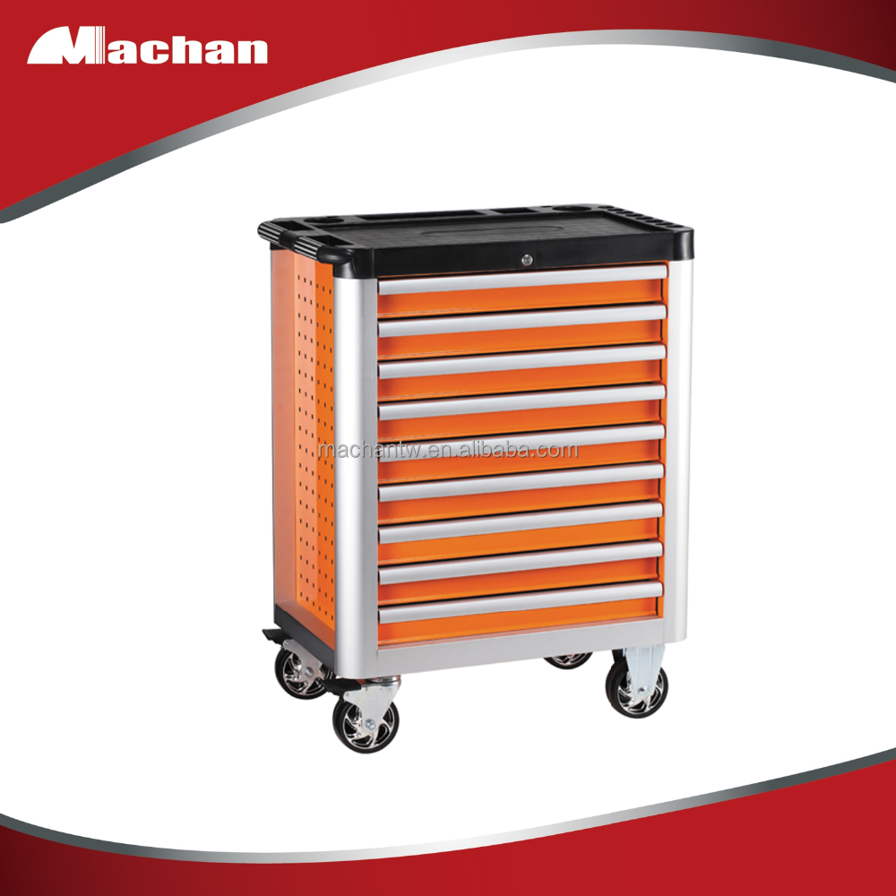 Screwdriver holder on both side aluminum trolley tool trolley box