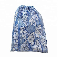 Customize Recycle Eco-friendly Lightweight Waterproof Dupont Tyvek Paper Christmas Drawstring Bag