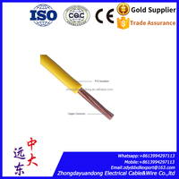 tw/thw awg 16 14 12 10 8 6 4 Guage copper Conductor stranded wire