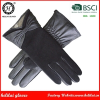 Helilai Customized Leather Gloves Classical Winter Ladies Gloves
