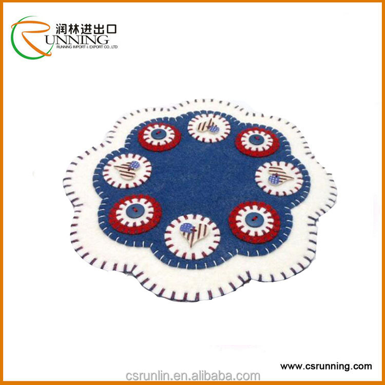 Colors needle punched nonwoven fabric felt / felt table pad