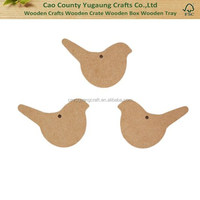 2016 China Gold manufacturer Hot Selling Wooden Christmas ornament Country Love Crafts, Small Bird Shaped Wooden Craft Blanks