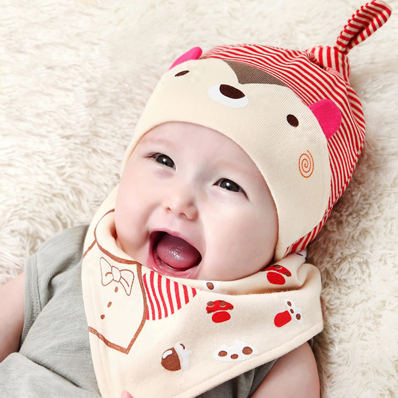 Wholesale Baby Winter Hat with Triangular Bandage Comfortable Warm Hat