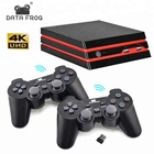 Data Frog 4K Video Game Console With 2.4G Wireless Controller 600 Classic Games For SEGA/GBA/SNES Family TV Retro Game Console