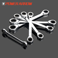 POWER ARROW 72-Teeth Double Sided/Ring Chrome vanadium combination ratchet wrench/gear spanner