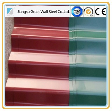 Colorful prepainted ppgi roof tiles, color coated roof tile, ppgi corrugated steel sheet