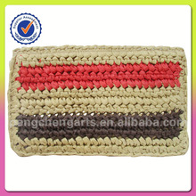 Nature wheat straw and paper clutch bag manufacturer
