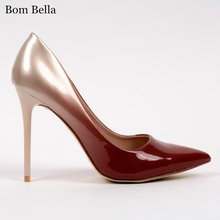 BBLA500 Low price high heel shoes and bags to match women dress shoes wholesale price