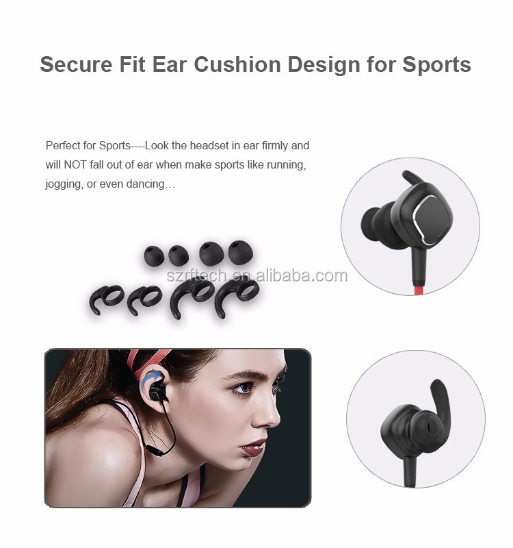 Magnetic csr8645/8640 bluetooth headphones 2017 bluetooth 4.1 headphone manufacturers Shenzhen