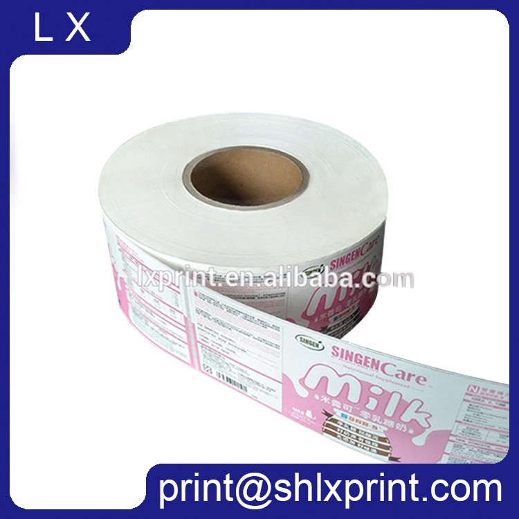 Custom Printed Roll Adhesive Milk Bottle Sticker Label
