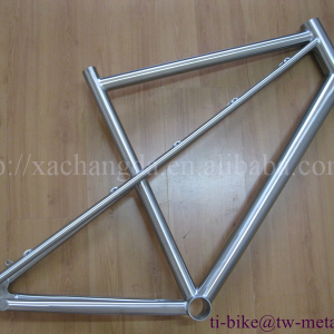 2016 new design! titanium mtb bicycle frame with post mouth ti mtb 29er titanium mtb bike frame with 44mm bigger head tube
