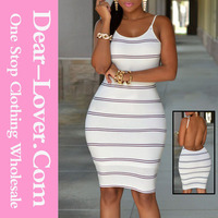 holiday 2015 White Black Stripes Open Back Bodycon Dress 7xl plus size clothing women