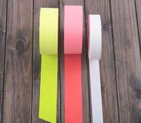 pink color reflective tape stripe fabric for clothing