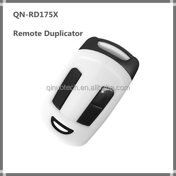 Universal wireless 4 buttons remote duplicator, fixed code remote control for garage door QN-RD175X