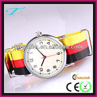 Japan Movt Quartz Watch Stainless Steel Back, nylon strap watch
