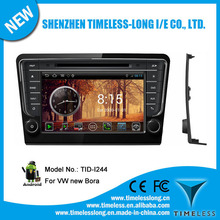 Android 4.0 1080P Touch screen in dash car dvd player for VW new Bora with GPS, RADIO,BT, PHONEBOOK, 3 Zone POP